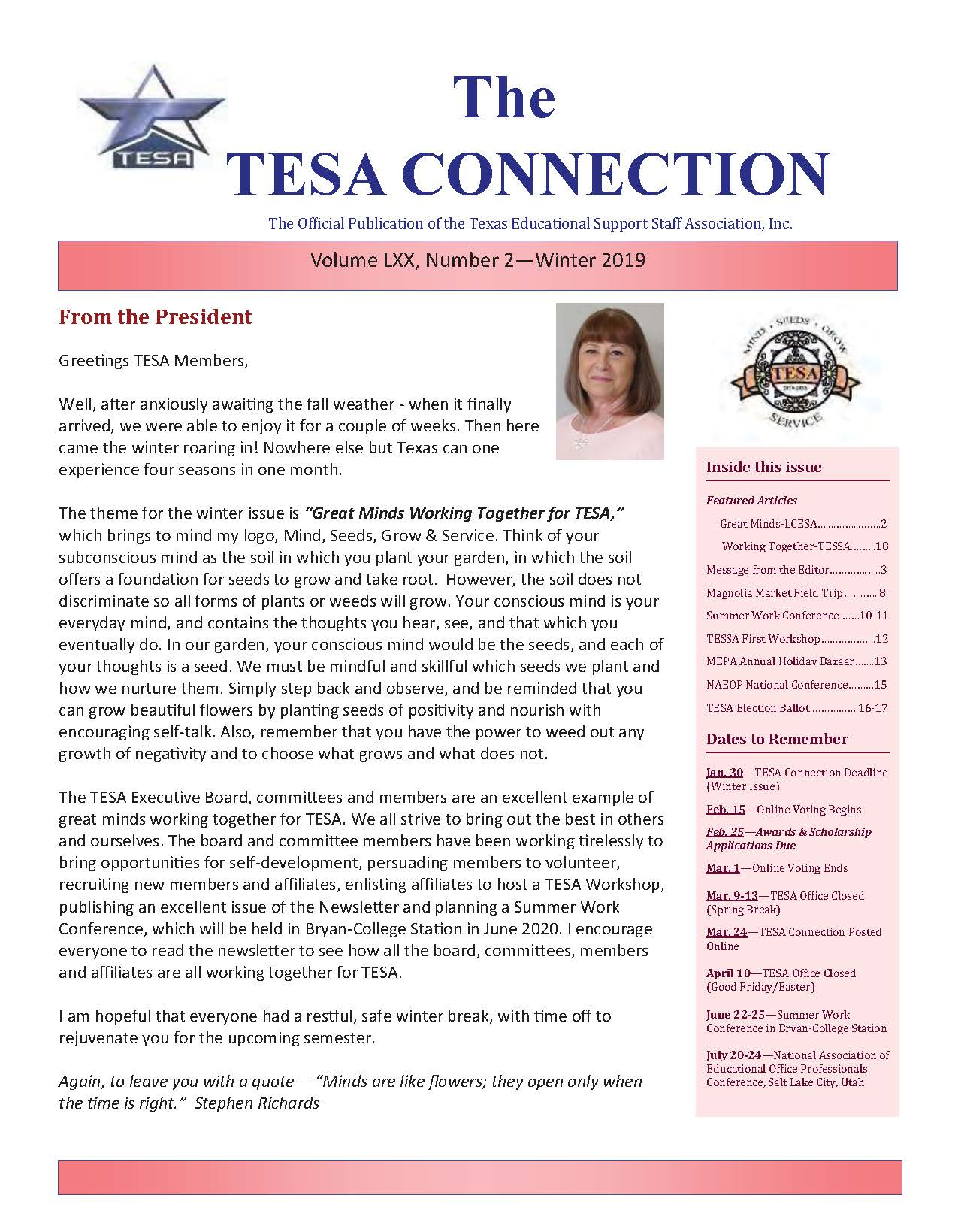 TESA Connection Winter 2019